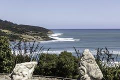 Rupturas do ponto do Raglan, NZ fotografia de stock royalty free
