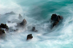 Rupturas grandes da onda Fotos de Stock Royalty Free