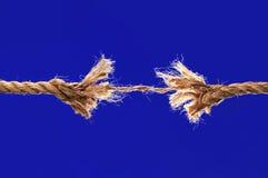 Rupture de corde photo libre de droits