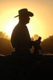 Rupture de coucher du soleil Images libres de droits
