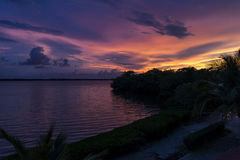 Rupture de l'aube dans les Caraïbe Photo libre de droits