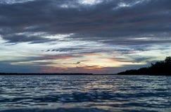 Rupture de l'aube dans les Caraïbe Images libres de droits