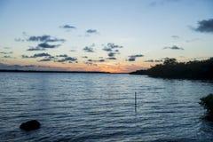 Rupture de l'aube dans les Caraïbe Photos stock