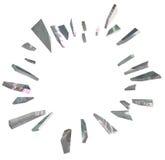 Rupture de la grande copie Spac de blanc d'annonce de tessons d'explosion en verre illustration de vecteur