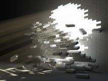 Rupture de mur Photographie stock libre de droits