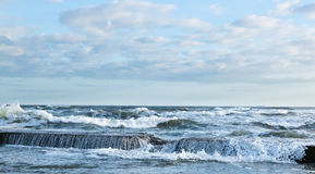Rupture des ondes d'océan Photo libre de droits