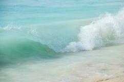 Rupture vitreuse de vague Photos libres de droits