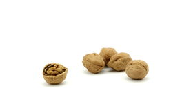 Rupture of walnut Stock Images