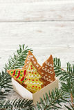 Ruptures de gingembre dans le boîte-cadeau photos stock