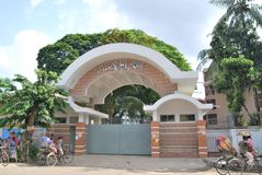 Ruqayyah Hall` after the name of Begum Ruqayyah who dedicated her whole life to. With twelve female students, the first Women's residential hostel of stock photo
