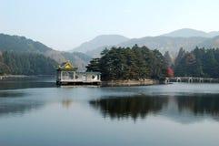 Ruqin湖,庐山山,中国 免版税图库摄影