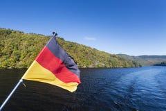 Rur Lake And German Flag Stock Images