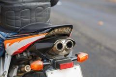 Rura wydechowa pomarańczowy rower zdjęcie stock
