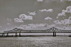 *Rural惊人的圣Juanico吊桥 免版税库存照片