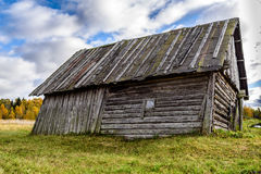 Rural Abandoned Homestead in a rural field in Latvia Stock Photography