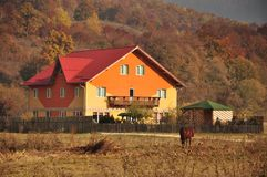 Rural accommodation village Stock Images