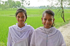 Rural Adolescent. In India adolescent girls at the rural areas could be at greater risk of nutritional stress because of early marriage and early conception Stock Photos