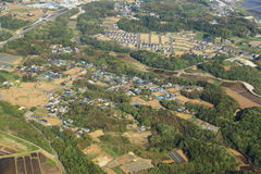 Rural aerial view from an airplane Stock Photography