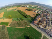 Rural aerial view Stock Image