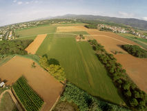 Rural aerial view Stock Images