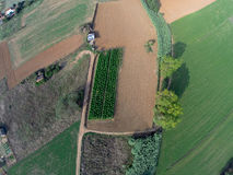 Rural aerial view Stock Photography