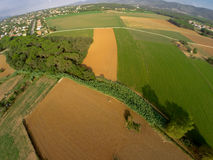 Rural aerial view Royalty Free Stock Photography