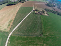 Rural aerial view Royalty Free Stock Photos