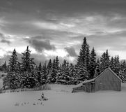 Rural Alaska in winter Stock Image