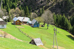 Rural alpine farm Royalty Free Stock Image