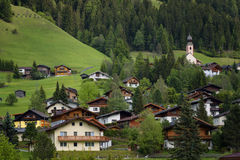 Rural Alpine landscape with houses and cottages in Hohe Tauern National Park, Austria, Europe. Summer time. Royalty Free Stock Photos
