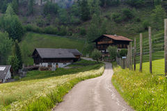 Rural Alpine landscape with houses and cottages in Hohe Tauern National Park, Austria, Europe. Summer time. Royalty Free Stock Photo