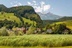 Rural alps landscape near Balzers Stock Images
