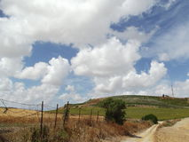Rural Andalusian Landscape on Dramatic Cloudscape Royalty Free Stock Photography