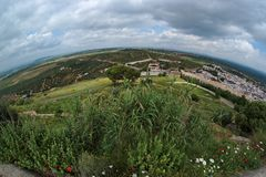 Rural Andalusian landscape seen by fisheye Royalty Free Stock Photos