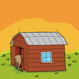Rural Animal in Barn Stock Photography