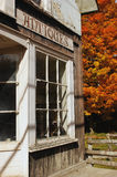 Rural antique store in autumn stock image