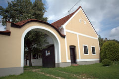 Rural architecture, Bakonybel, Hungary Stock Photography