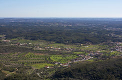 Rural area of ​​Rio Maior. Aerial view over rural landscape of Rio Maior, Portugal royalty free stock images