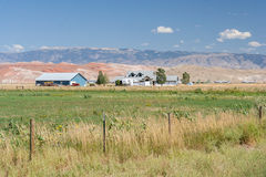 Rural area Country side view and farm land at Wyoming USA Stock Photo