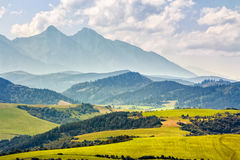 Rural area at the foot of Tatra mountains Royalty Free Stock Photography