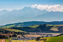 Rural area at the foot of Tatra mountains Royalty Free Stock Photo