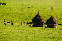 Rural area daily life Stock Photo