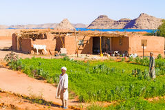 Rural area near Lake Nasser in southern Egypt Stock Image
