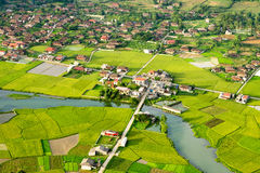 Rural area in Vietnam Stock Image