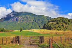 Rural areas in the Chilean Patagonia Royalty Free Stock Photos