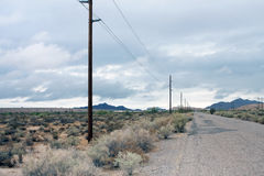Rural Arizona Desert Road Royalty Free Stock Images