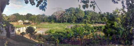 Rural aspect of the outskirts of the city of Santo Domingo royalty free stock photo