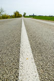Rural asphalt road white line and perspective Royalty Free Stock Photo