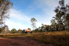 Rural Australia. Old falling down house in Rural Australia royalty free stock images