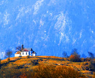 Rural Austrian Church Royalty Free Stock Image